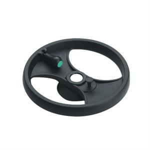 2-SPOKE CONTROL HANDWHEEL WITH FOLDAWAY REVOLVING HANDLE & LOCKING PISTON