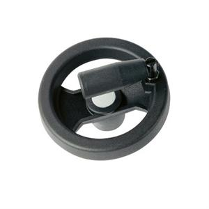 2-SPOKE CONTROL HANDWHEEL WITH REVOLVING FOLDING HANDLE